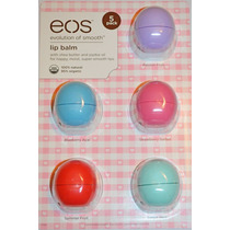 Eos Lip Balm Protetor Labial Kit Com 5 - 100% Original