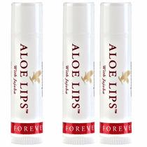 Kit 3 Aloe Lips Protetor Labial Aloe Vera + Jojoba Forever