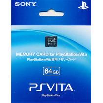 Cartão Memória  Psvita  64gb  Lacrado  Memory Card  Original