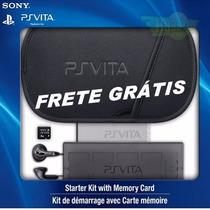 Ps Vita Starter Kit Acessórios 6 Itens C/ Cartão Memória 4gb
