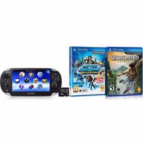 Ps Vita Sony Jogos Cartão Memória 4gb Wifi Playstation Nf