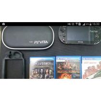 Psvita Wifi Original + Jogos + Capas + Cartão Memória 16gb