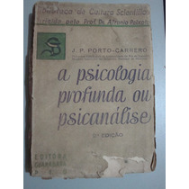 Livro A Psicologia Profunda Ou Psicanálise