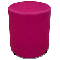Puff Round Madeira Corano Rosa - Markine Mobilier