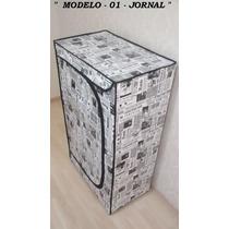 Sapateira De Madeira Personalizadas Grande - Jornal -