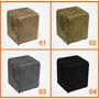 Puff Quadrado Box Suede Amassado 35x35 - Cia Bistrô