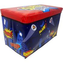 Caixa Organizadora Puff Bau Infantil Para Guardar Brinquedos