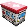 Mini Puff Baú Infantil Porta Brinquedo