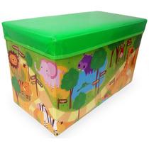 Caixa Organizadora Para Guardar Brinquedos Puff Bau Infantil