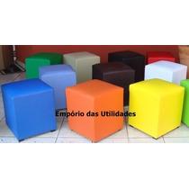 Kit Com 2 Puffs Escolha As Cores Frete Mais Barato Do Brasil