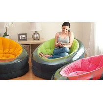 Poltrona Puff Sofá Inflável Intex Colorido