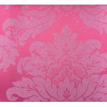 Tecido Jacquard Rosa Pink 1m X 2,8m Para Decoração E Toalhas