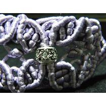 Pulseira E Bracelete Em Macramê