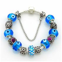 Pulseira Pandora Vivara Prata 925 Completa Com Beads