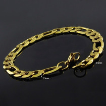 Bracelete Pulseira Masculina Grossa Banhada Ouro 18k 8,5mm