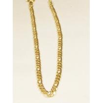Pulseira Masculina Grumet Figaro 3 X1 21cm Em Ouro 18k-750