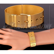Pulseira Bracelete Feminino Luxo Delicado Banhada Ouro 18k