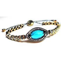 Fmx-pulseira Riviera Turquia Turco Prata 925 Cristal Topazio