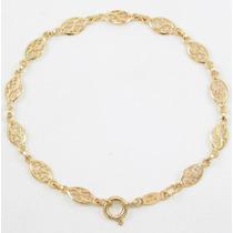 Esfinge Jóias - Pulseira Malha Arabesco Ouro Amarelo 18k 750
