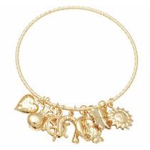 Bracelete Feminino Banhado A Ouro Estilo Vivara