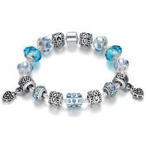 Pulseira Pandora Vivara Prata 925 Ouro 18 Completa Com Beads