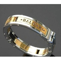 Pulseira Bracelete Algema Masculino Bulgari Banhado Ouro 18k