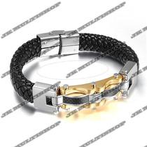 Pulseira Bracelete Algema Masculino Titanium Sedex Grátis