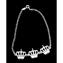 Pulseira De Coroa Em Prata 925
