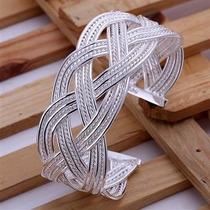 Lindo Bracelete Em Prata 925 Trançado