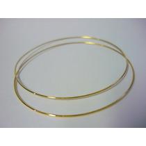 1159- Fio De Ouro 10k Argola Bracelete Feminina Pulseira