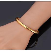 Pulseira Bracelete Feminino Banhado A Ouro 18 K Luxo