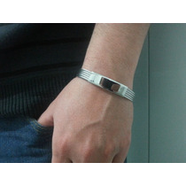 Pulseira Bracelete Algema Masculina Cabo Aço Náutico 316l