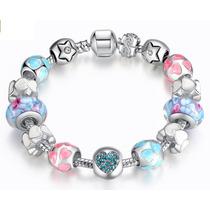 Pulseira Pandora Vivara Prata 925 Completa Com Beads Linda