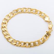 Pulseira Masculina Banhada Em Ouro 18k- Frete Grátis