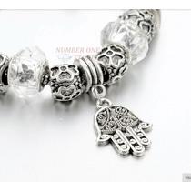 Pulseira Bracelete Estilo Pandora Vivara Folheada Prata 925