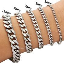 Pulseira Bracelete Grumet Prata Aço Inoxidável