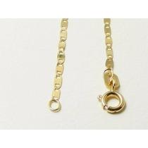 Pulseira Piastrine Feminina E Masculina 20cm Em Ouro 18k-750