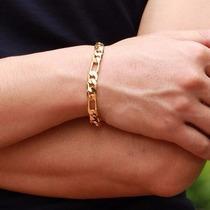 Bracelete Pulseira Masculino Banhada Ouro 18k Baratas 8,5mm