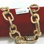 Pulseira De Luxo Zirconias Swarovski - Banhada A Ouro 18k