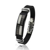 Pulseira Unisex Bracelete Desenho Laser Aço 316l, Frete Gr
