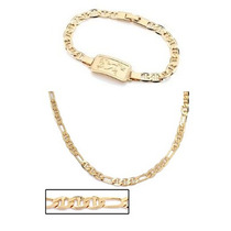 Conjunto Masculino Cordão 60cm+pulseira Rommanel Folheado