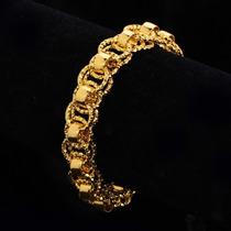Pulseira Feminina Banhada A Ouro 18k- 21cm - Lindissima