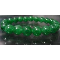 Hs Pedras - Pulseira Unissex Jade Verde 8mm... Cód197p8