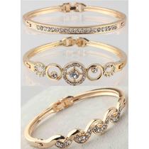 Pulseira Bracelete Feminino Banhado Ouro 18k Gold Filled