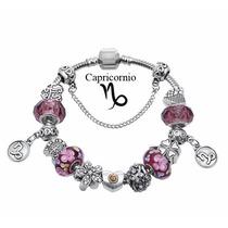 Pulseira Pandora Vivara Banh.prata Signos Completa Com Beads