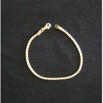 Pulseira Unisex Cordão Baiano Folheada Ouro 18k 18cm 2,70gr