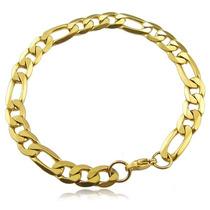 Pulseira Bracelete Masculino Banhada Ouro 18k Baratas 8,5mm