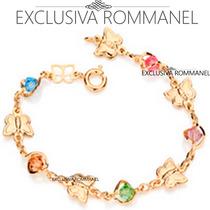 Rommanel Pulseira Infantil Borboletas Folheado Ouro 550849