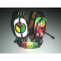 Três Pulseiras Reggae Bob Marley