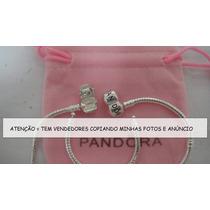 ()fgrátis Pulseira Pandora Plaquê De Prata + 7 Berloques
